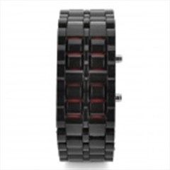 Fashion Rubber Band Red Light LED Digital Wrist Watch - Black (1 x CR2032)