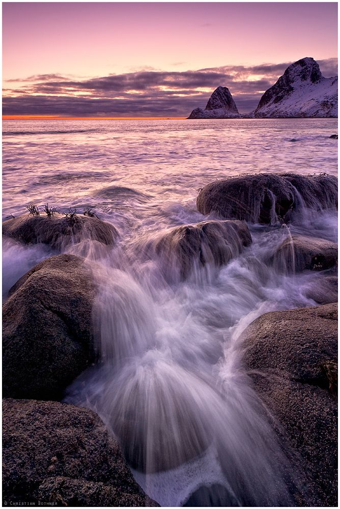 Vesterålen, After Sunset Arctic Light, Northern Norway, by Christian Bothner.