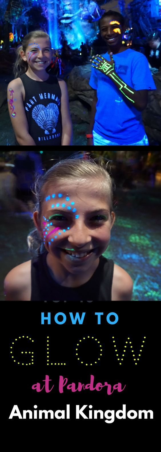 We visited Pandora in Animal Kingdom, but this time we were prepared to make ourselves glow in Pandora. #glow #Pandora