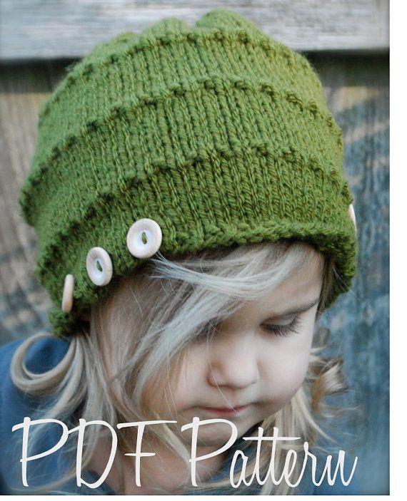 Tricot PATTERN-The Ashlyn Hat bébé enfant taille par Thevelvetacorn