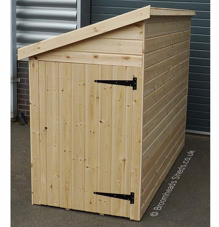 16mm Tanalised Timber Pent Bike Shed.
