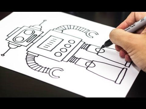 How to draw a robot step by step. - Best do-it-yourself Arduino technology projects to educate and inspire you to make great things http://arduinoprojecthacks.com/