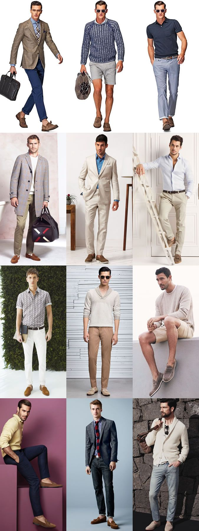 Men's Suede Loafers Outfit Inspiration Lookbook