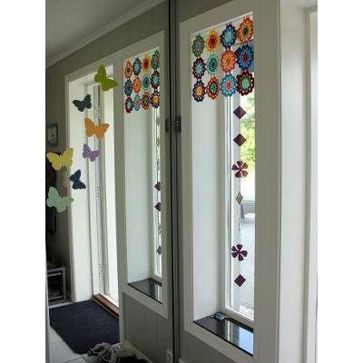 Cortinas Crochet Hasta 1.40 M X Hasta 1m - $ 800,00 en Mercado Libre
