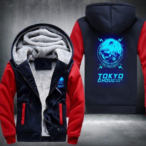 Tokyo Ghoul Kaneki Ken Zipper Cosplay Fashion Luminous Hooded Jacket #Tokyo #Ghoul #Kaneki #Ken #Zipper #Cosplay #Fashion #Luminous #Hooded #Jacket #konohastuff