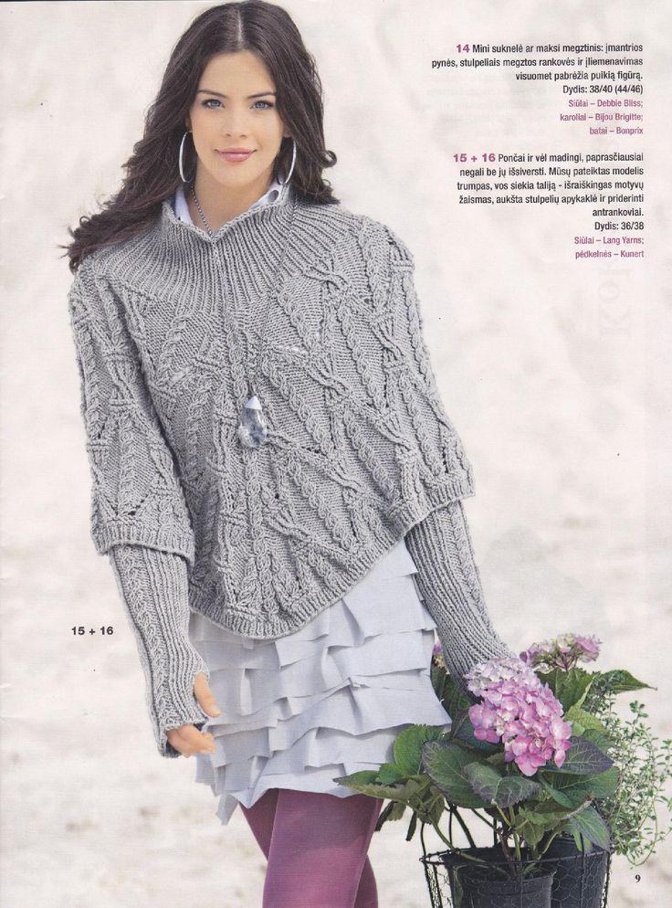 The 335 Best Shawlsponchos Images On Pinterest Knitwear Crochet