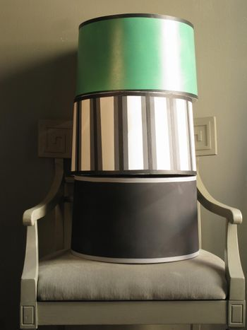 """Three ways to re-do lampshades.  I need to get some of the """"spike"""" tape."""