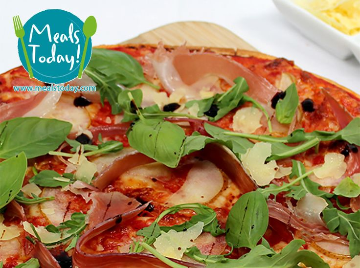 Pizza with Prosciutto and Pear  Available to order now, for delivery on Tue 30th September  www.mealstoday.com    #mealstoday