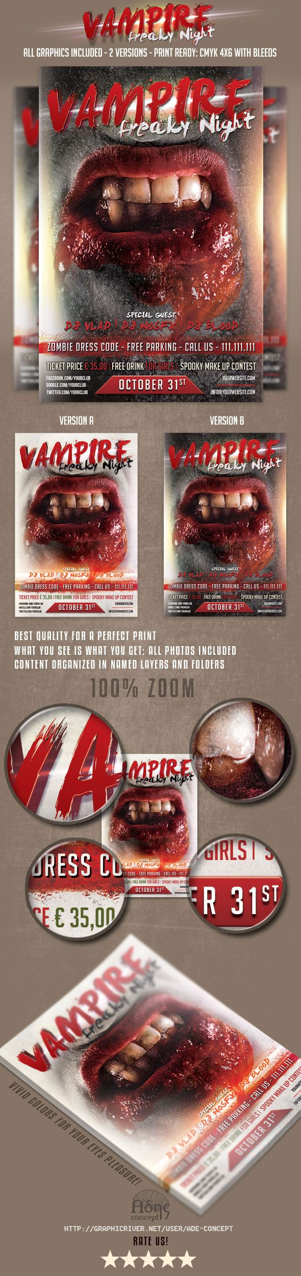 Halloween Flyer Template on GraphicRiver  #halloween #flyer #template #graphicriver  http://graphicriver.net/item/trick-or-treat-halloween-flyer/9184369?WT.ac=portfolio&WT.z_author=ade-concept&ref=ade-concept