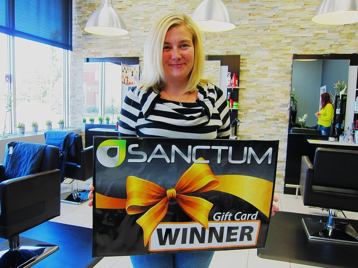 Congratulations Amanda Ladouceur - winner of #NailsON contest, a complimentary Wash & Style from Sanctum Salon & Spa!  Check our Facebook page every Tuesday and Friday for your chance to win complimentary Manicure and Wash & Set!