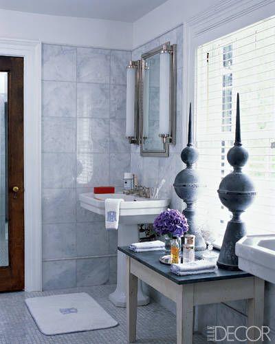 at home with badgley mischka gray bathroomsbathrooms decormaster bathroomsbathroom ideasluxury - Bathroom Ideas Elle Decor