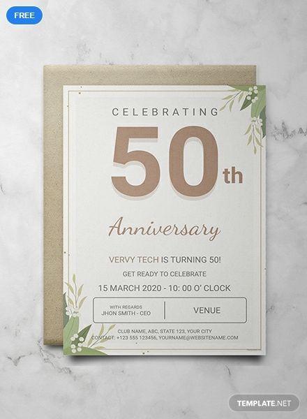 Free Corporate Anniversary Invitation