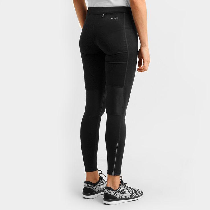 Ideal para a prática intensa de exercícios, a Calça Legging Nike Dri-Fit Pace Tight Preto e Cinza não limita os movimentos, para uma grande performance. Seu ótimo caimento valoriza as curvas da silhueta feminina. | Netshoes
