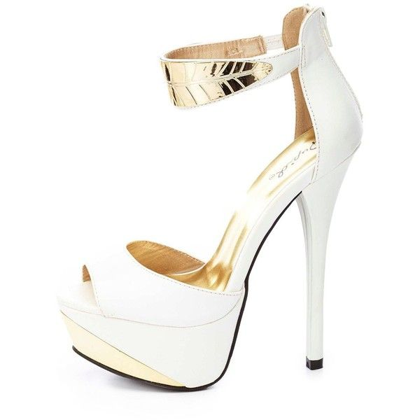 25 best ideas about white and gold heels on