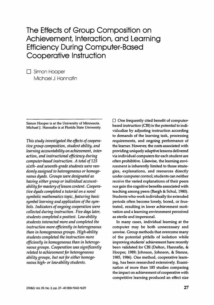 impact of computer based instruction on college Traditional instruction in a college setting (akour, 2006) similarly, college students taught statistics using  collaborative use of computer based communication.