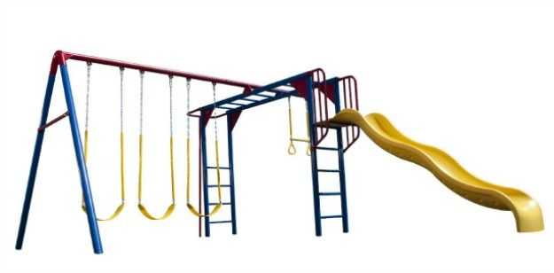 Swing set with monkey bars - this one is great for older kids!
