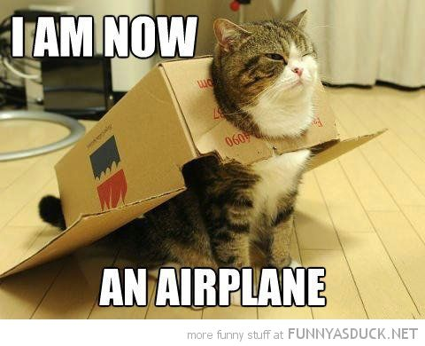 I am now an airplane...... not.