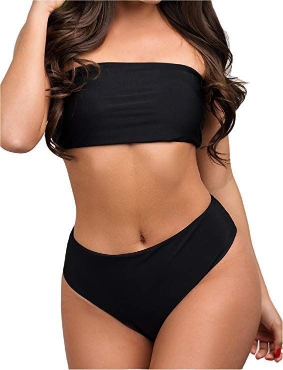 7dc4d6f27f Sexy Strapless Bikini Set Women Push-Up High Waist Swimsuit Beach Swimwear  Bathing Suit#Set, #Women, #Push - #Bathing #beach #Bikini #High #push # PushUp ...