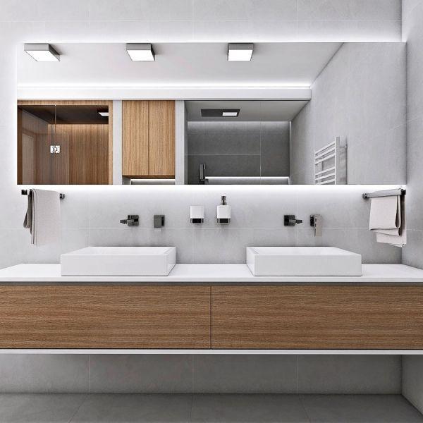 Stěžejní vlastností materiálu pro nábytek v koupelně je jeho vlhkotěsnost, případně voděodolnost, je-li nábytek v místech s přímým kontaktem s vodou