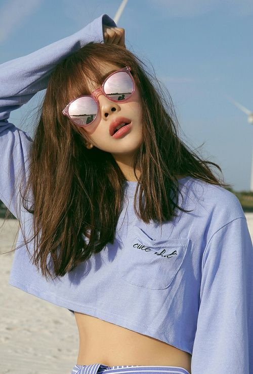 girl, sunglasses, and ulzzang image