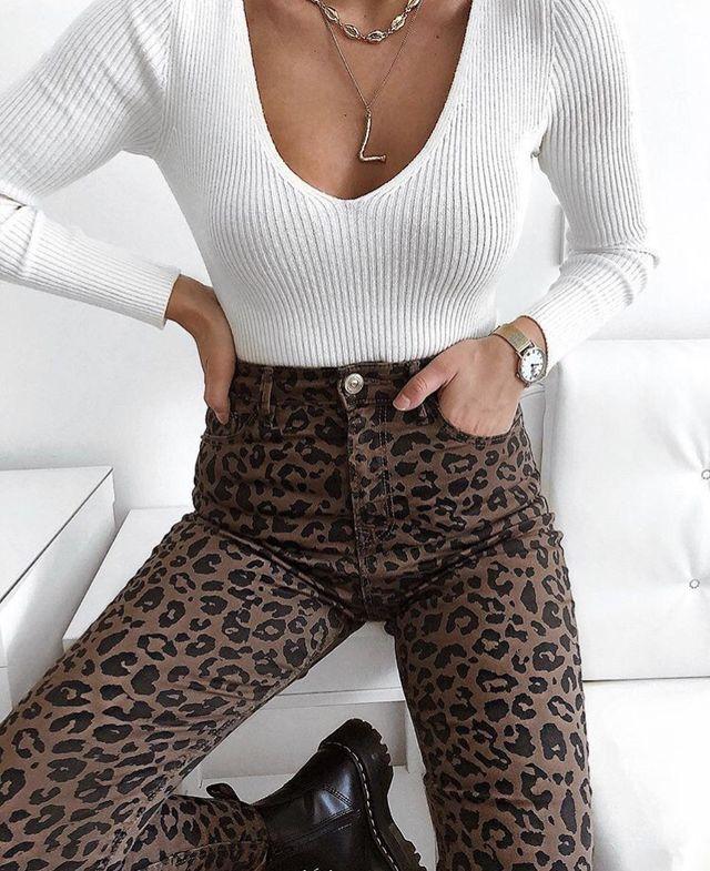 Leopardenmuster tragen #fashion #ootd