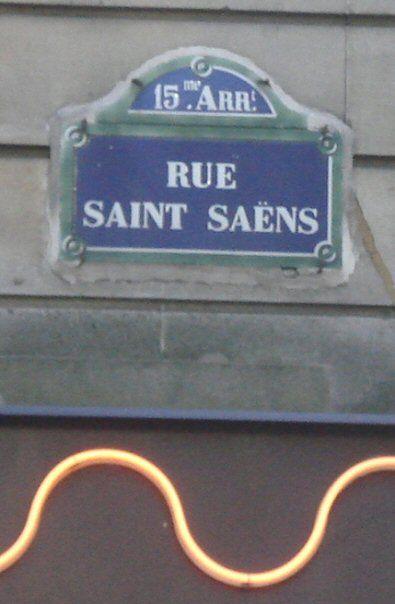 La rue Saint-Saëns  (Paris 15ème)