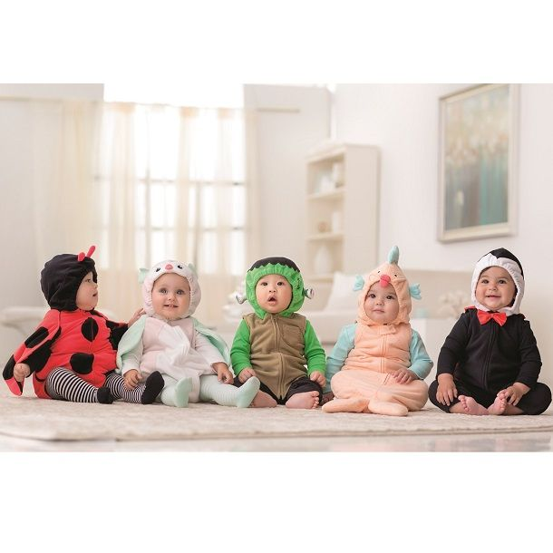 Baby's 1st Halloween costumes from Carter's. Trick or treat in the cutest bubble fleece. #CartersHalloween
