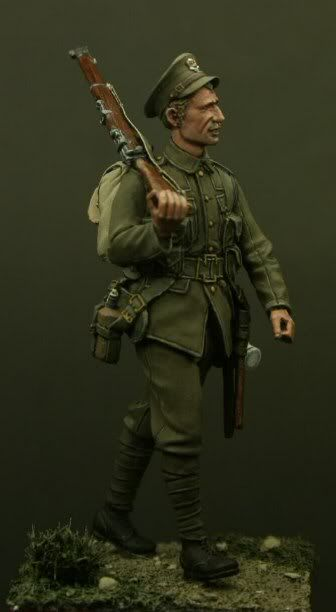 Private, 4th Bn Middlesex Regiment, Mons 1914. Click on the pic for more details about Tommy's War and other awesome figures
