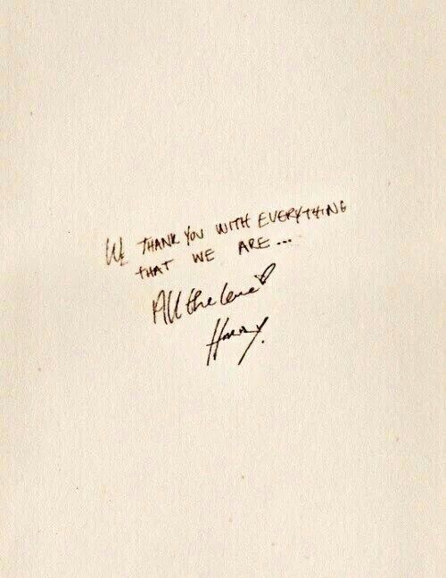 He's got such a beautiful handwriting -M