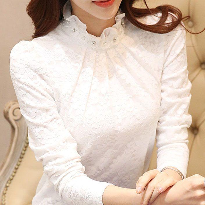 3659bab7c5ae0 Encontrar Más Blusas y Camisas Información acerca de Manga larga camisa  blanca mujeres 2015 otoño nuevo estilo coreano de moda mujere…