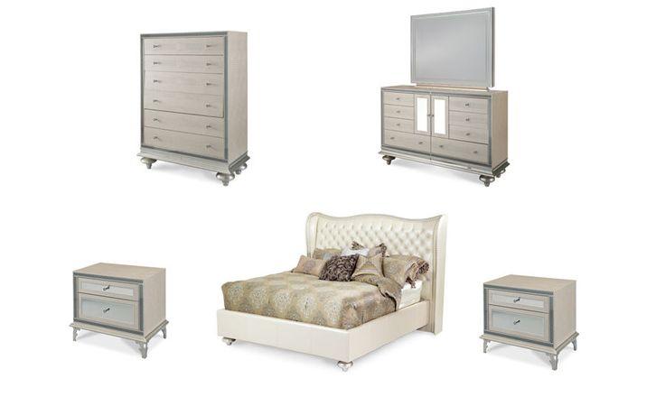 6 Pc Hollywood Swank Pearl/Crystal Croc Eastern King Bedroom Set | King Bedroom  Sets, Bedroom Sets And King Bedroom