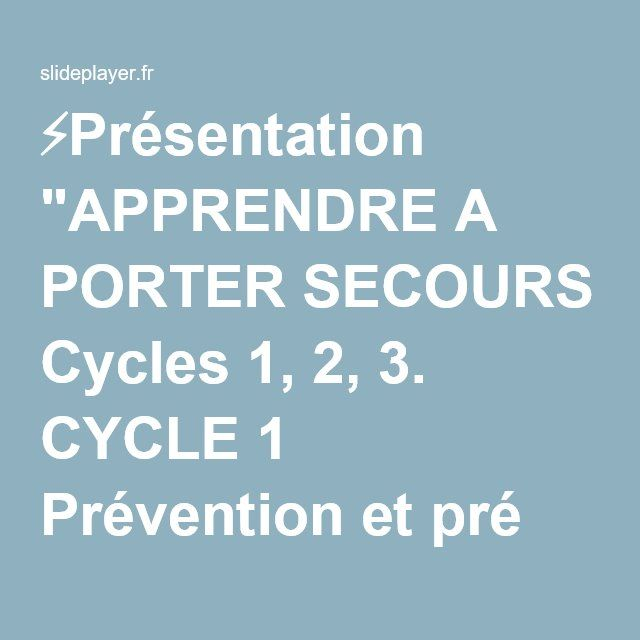 37 best b2i aper aps niveau a1 images on pinterest cycle 3 montessori and teaching french - Apprendre a porter secours cycle 3 ...