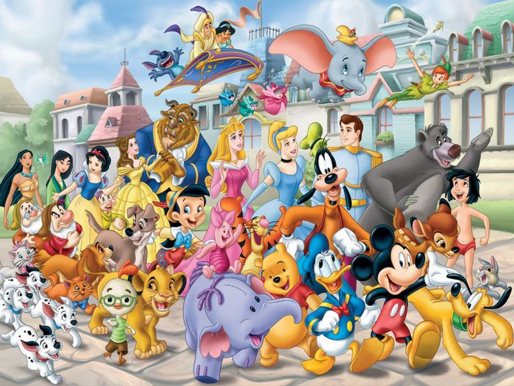 多くのディズニーのキャラクター