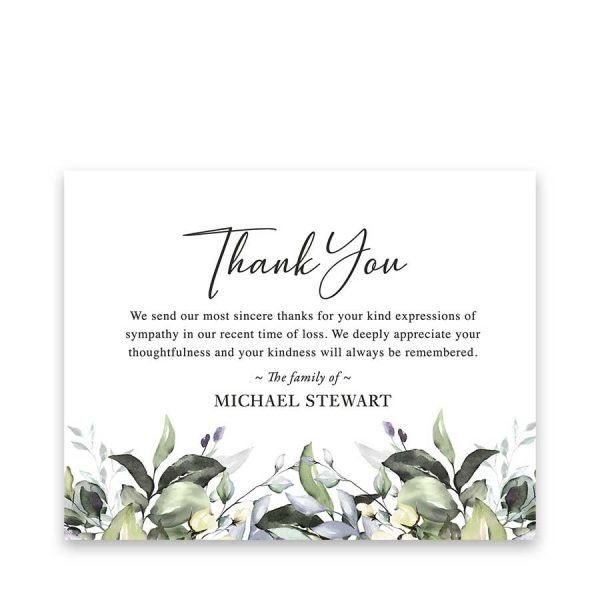 Funeral Thank You Card Funeral Thank You Cards Sympathy Thank You Cards Thank You Card Template