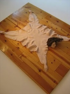 DIY Human Rug for haunted hotel lobby or in front of fake fireplace