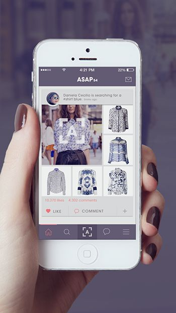 A new app called ASAP54 can find clothes that you see online, or at leas something very similar, in stores for you.