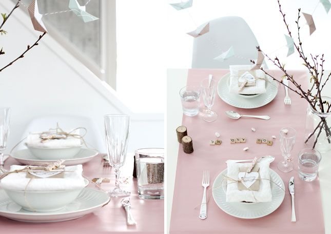 Table for Two: 12 Romantic Table Settings via Brit + Co.