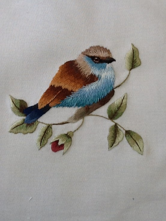 My first effort ...a Trish Burr design. Loved stitching the little fellow.