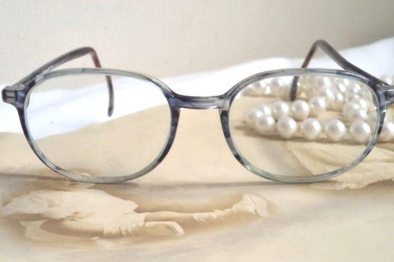 Norman Rockwell Smokey Blue Eyeglasses Horn Rim by MushkaVintage3