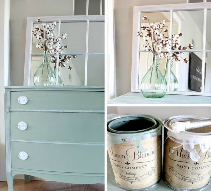 relooking-meubles-shabby-chic-pienture-vert-clair-boutons-blanc-neige