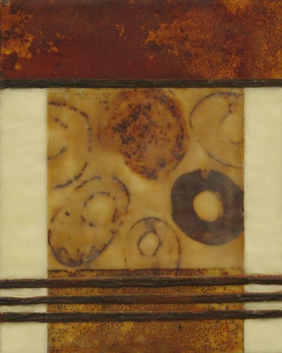 Nancy Vorm | Encaustic beeswax - rust, mixed media
