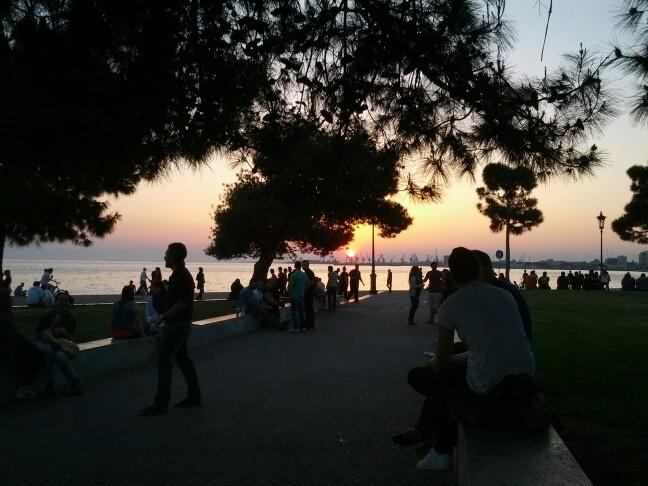 Sunset, Thessaloniki.