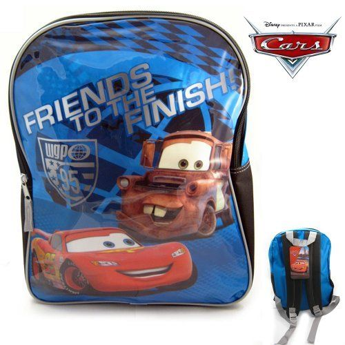 Disney Pixar 15 Cars McQueen Kids Backpack School Book Large Bag Boys Camp New *** See this great product.