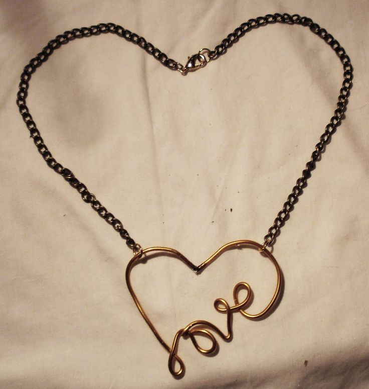 DIY By Philippe  Gold Fill Love In Heart Necklace