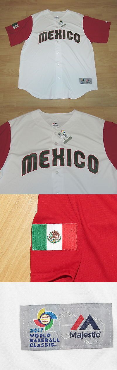 Baseball-Other 204: Majestic Wbc Mexico 2017 World Baseball Classic Coolbase Home Jersey Men S Large -> BUY IT NOW ONLY: $109.99 on eBay!
