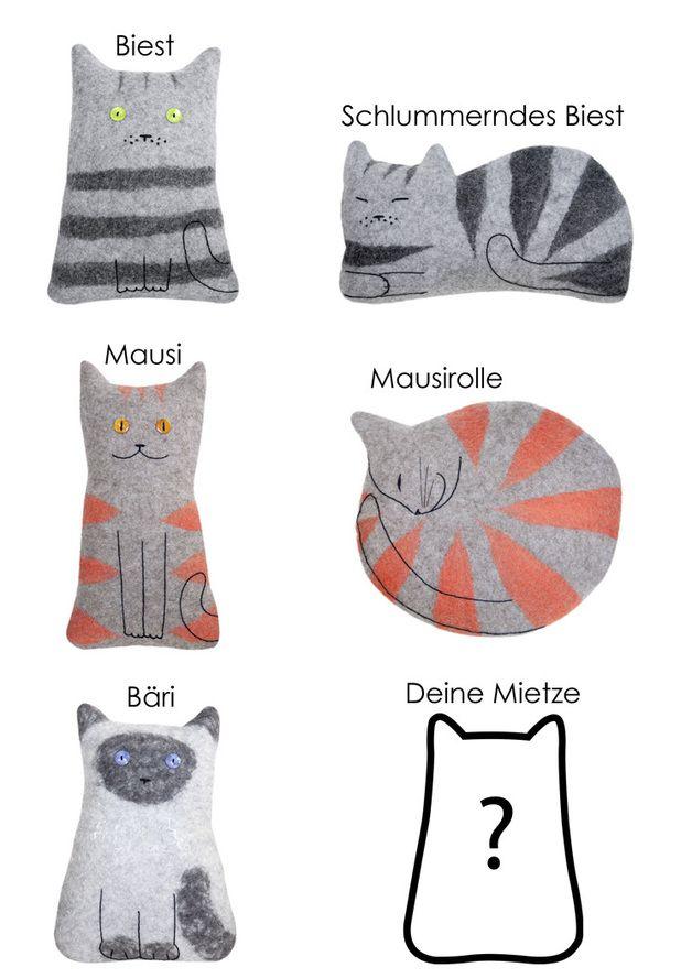 Kitty Pillows - http://de.dawanda.com/product/32250645-Kissen-aus-Filz-Mietze    (03.05.15)