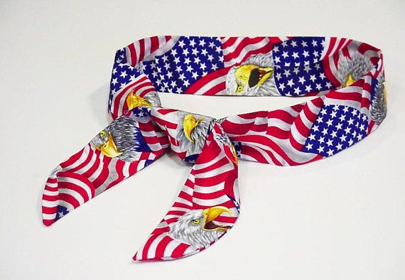 Patriotic Cooling Scarf Cool Tie Neck Wrap Keep Cool Bandana Gel Neck Cooler Body Head Heat Relief Headband iycbrand on Etsy, $9.99