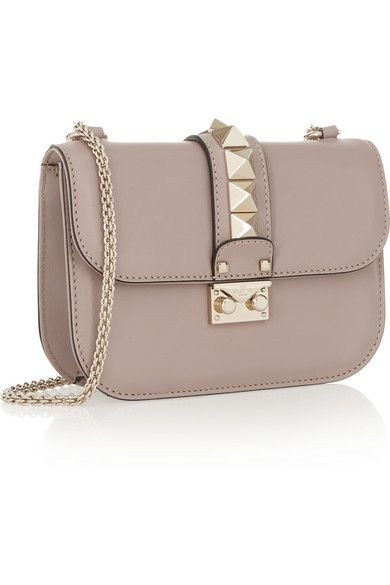 Blush leather (Calf) Push lock-fastening front flap Designer color: Powder Comes with dust bag