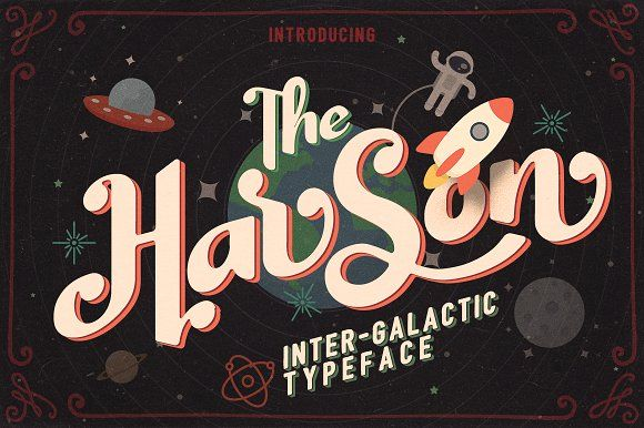 Harson Inter-Galactic Typeface by weirdStore on @creativemarket