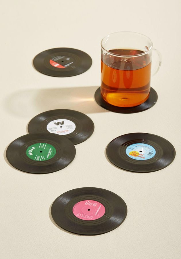 Modcloth Have The Vinyl Say Coaster Set 36 Home Wishlist Quirky Home Decor Unique Home Decor Coaster Set